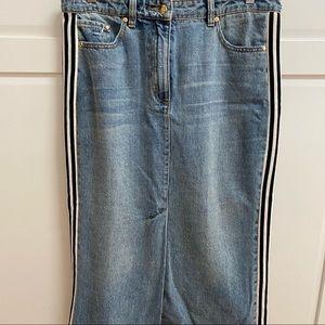 PE NATION Denim Midi Skirt. Size 30. As New